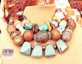 Turquoise Multi Gemstone Statement Necklace